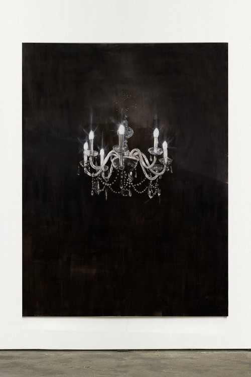 <i>Chandelier 7</i>,       2013<br />      Oil paint on canvas,        240 x 180 cm<br />