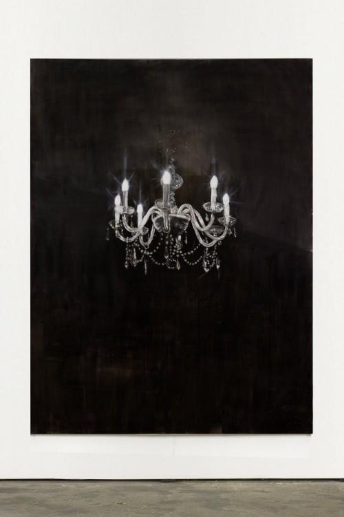 »Chandelier 7«,       2013<br />      Oil paint on canvas,        240 x 180 cm<br />