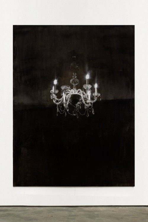 »Chandelier 3«,       2013<br />      Oil paint on canvas,        240 x 180 cm<br />