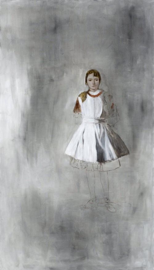 »Mädchen«, 2008<br />oil paint on canvas, 284 x 161 cm<br />