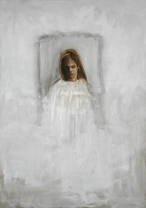 <i>Weiße Frau</i>,       2007<br />      oil paint on canvas,        207 x 147 cm<br />
