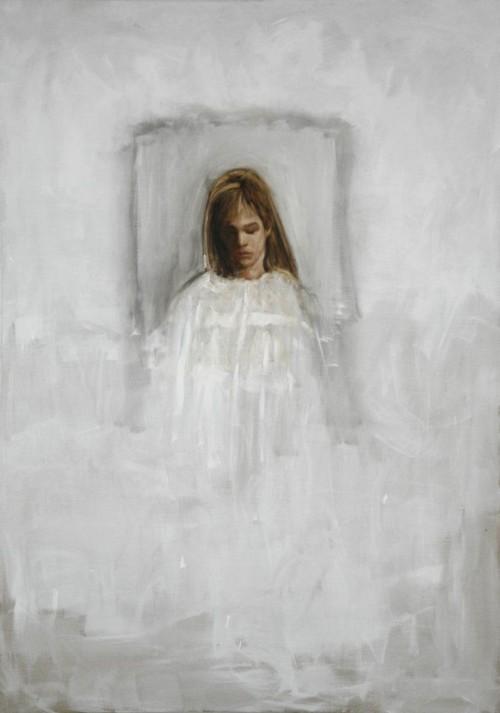 »Weiße Frau«,       2007<br />      oil paint on canvas,        207 x 147 cm<br />