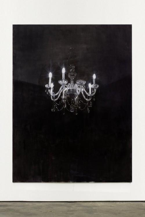 »Chandelier 4«,       2013<br />      Oil paint on canvas,        240 x 180 cm<br />