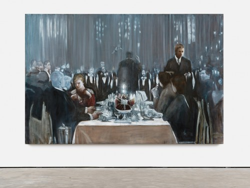 »Der Zauberberg (Studie)«, 2014<br />Oil on canvas, 190 x 290 cm<br />