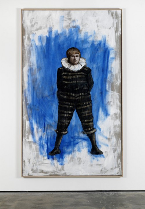 »Stehender«,       2011<br />      oil paint on canvas,        250 x 150 cm<br />