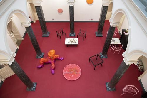 <i>Installation view 'Bongos at the Lido', Villa Merkel, Esslingen, Germany, 2020</i>,       <br />      Photo credit: Frank Kleinbach,       <br />
