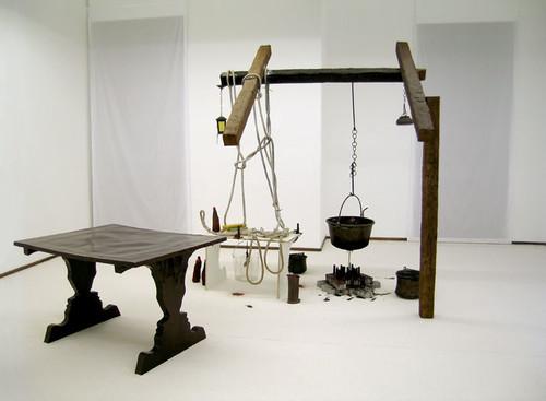 »Hommage an die Interpretation der Zeit«,       <br />             <br />      Installation view, La. Rada, Locarno, Switzerland, 2005