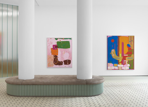 <i>Installation view: 'David Renggli: SUV Paintings', Wentrup Gallery</i>,       2020<br />             <br />