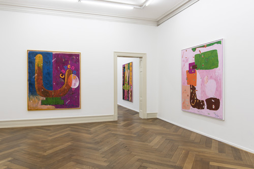 <i>Installation view 'Bongos at the Lido', Villa Merkel, Esslingen, Germany, 2020</i>,       <br />      Photo credit: Frank Kleinbach,       <br />