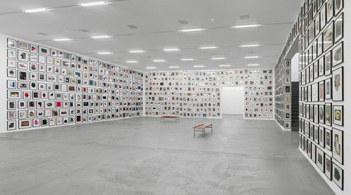 <i>You, Can You Recommend Your Psychiatrist?</i>,       2007<br />      1001 individual paperworks,        dimesions variable<br />      Installation view, Migros Museum, Zurich, Switzerland, 2014