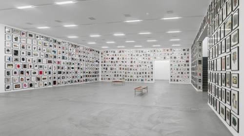 »You, Can You Recommend Your Psychiatrist?«, 2007<br />1001 individual paperworks, dimesions variable<br />Installation view, Migros Museum, Zurich, Switzerland, 2014