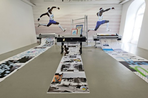 »Installation view Kasseler Kunstverein, Kassel, Germany, 2014«, <br /><br />photo: Nils Klinger