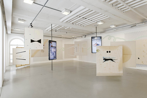 »Installation view Kasseler Kunstverein, Kassel, Germany, 2014«,       <br />             <br />      photo: Nils Klinger