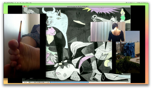 »Guernica, mon amour, give all and get something (Postmoderna Trauma)«,      2012<br />      single-channel-video,        8:22 min.<br />