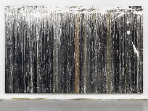 »Es ist ein Stoppelfeld in das ein weißer Regen fällt«, 2015<br />, 303 x 480 cm<br />