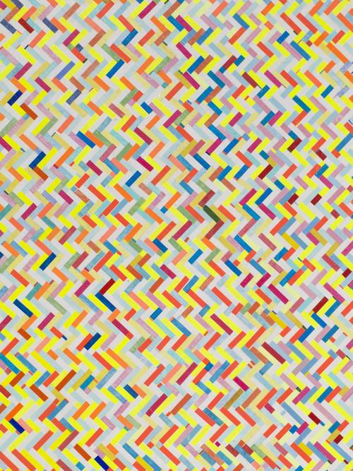 »Zickzack-Raute (Anfänge und Enden) (detail)«,       2016<br />             <br />