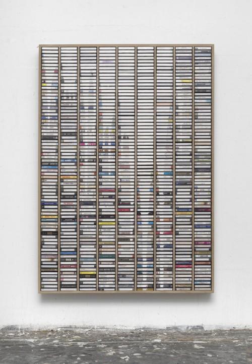»Eine Welle die uns trägt«, 2012<br />Plastic, paper, wood, 159 x 111 cm<br />