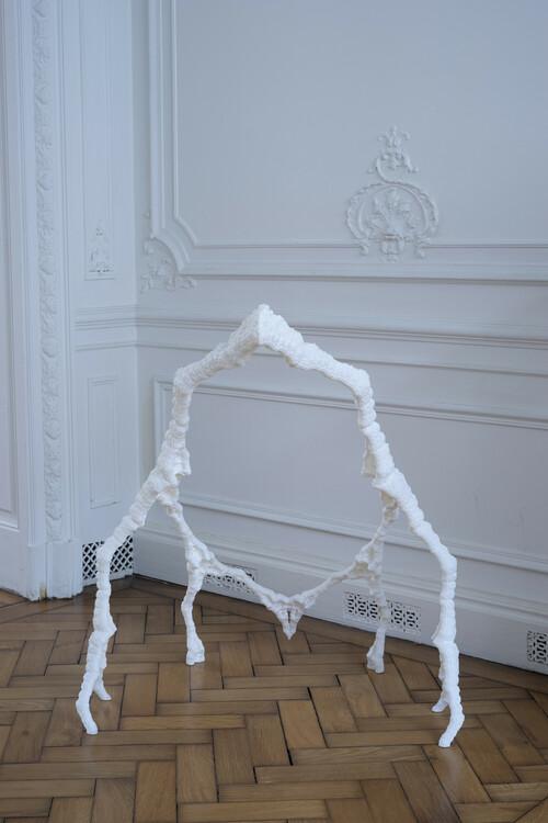 <i>Augure mathématique #1, C</i>,       2019<br />      SLA 3D print,        82 x 70 x 83 cm<br />