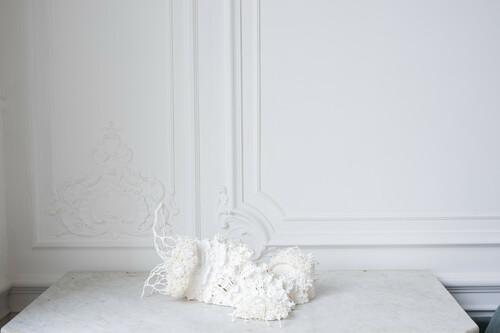 <i>Augure mathématique #1, B</i>,       2019<br />      SLA 3D print,        40 x 50 x 25 cm<br />