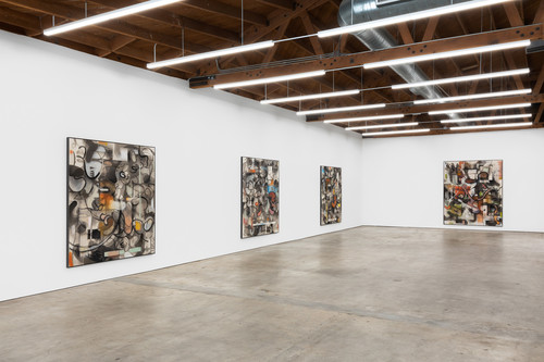 <i>Installation view 'Paintings have Feelings too', Nino Mier Gallery, Los Angeles, 2020</i>,       <br />             <br />