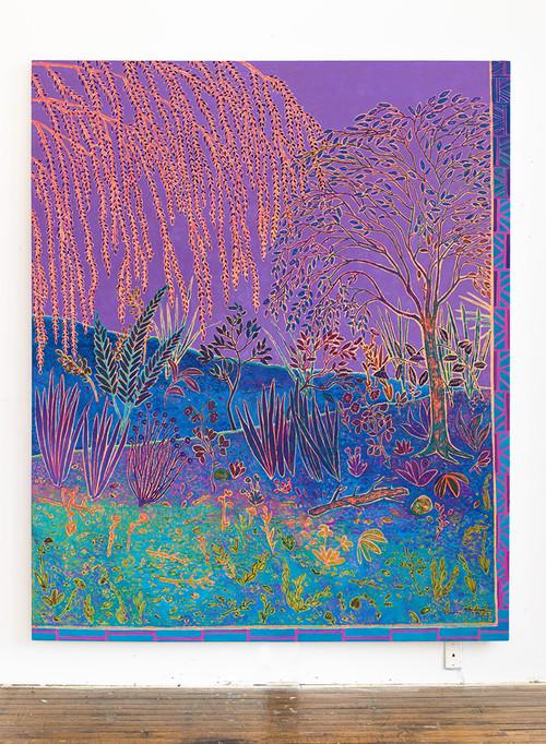 <i>botanic oceanic</i>,       2014<br />      oil on canvas,        231 x 190 cm<br />