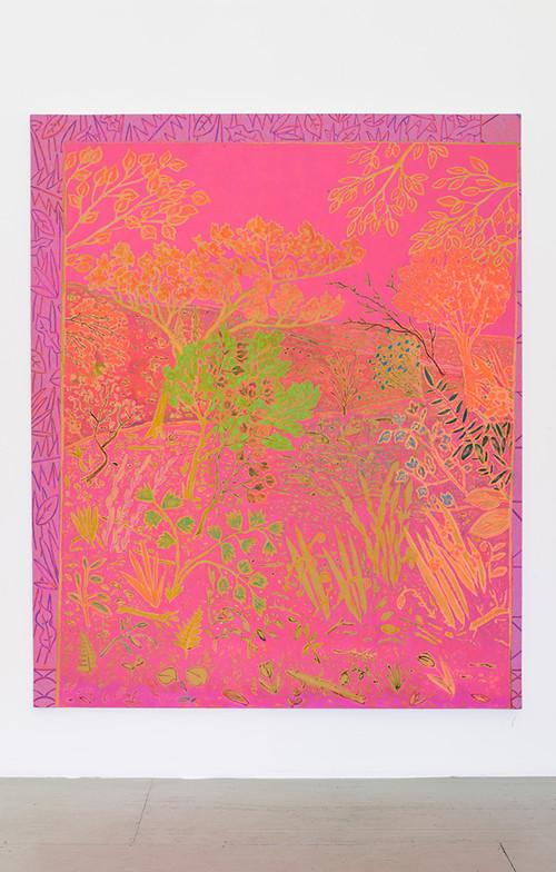 <i>chorus runs riot</i>,       2014<br />      oil on canvas,        231 x 190 cm<br />
