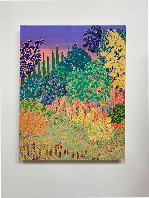 <i>squalls gone serene</i>,       2020<br />      oil on canvas,        58.5 x 46 cm<br />