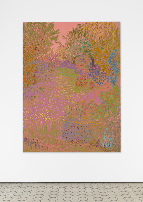 <i>rose dawnbright glimmering</i>,       2020<br />      oil on canvas,        120 x 89 cm<br />