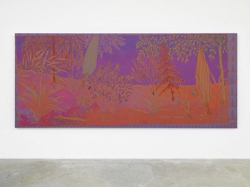 »radiant sometimes sultry«, 2014<br />oil on canvas, 183 x 427 cm<br />