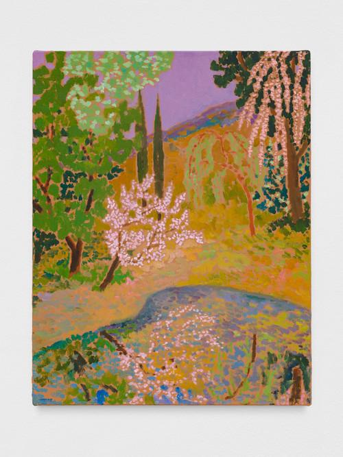 »verdant whispery«,       2019<br />      oil on canvas,        58 x 46 cm<br />