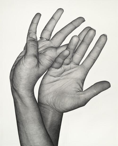 <i>Double Dominant 17 (Tala Madani)</i>,       2020<br />      pencil on paper,        162 x 131 cm<br />