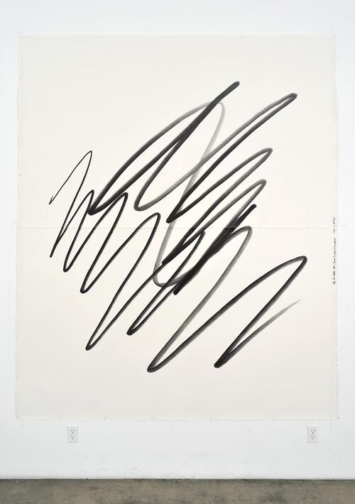 <i>Big Scribble #6 (squat)</i>,       2018<br />      pencil on paper,        260 x 210<br />