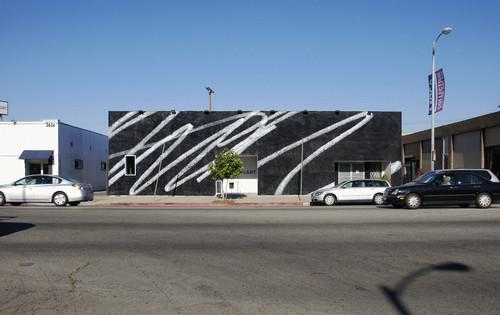 »Public Scribble #2«,       2009<br />      Enamel on wall,       <br />      LAXART, Los Angeles