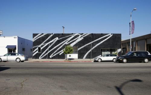 »Public Scribble #2«, 2009<br />Enamel on wall<br />LAXART, Los Angeles
