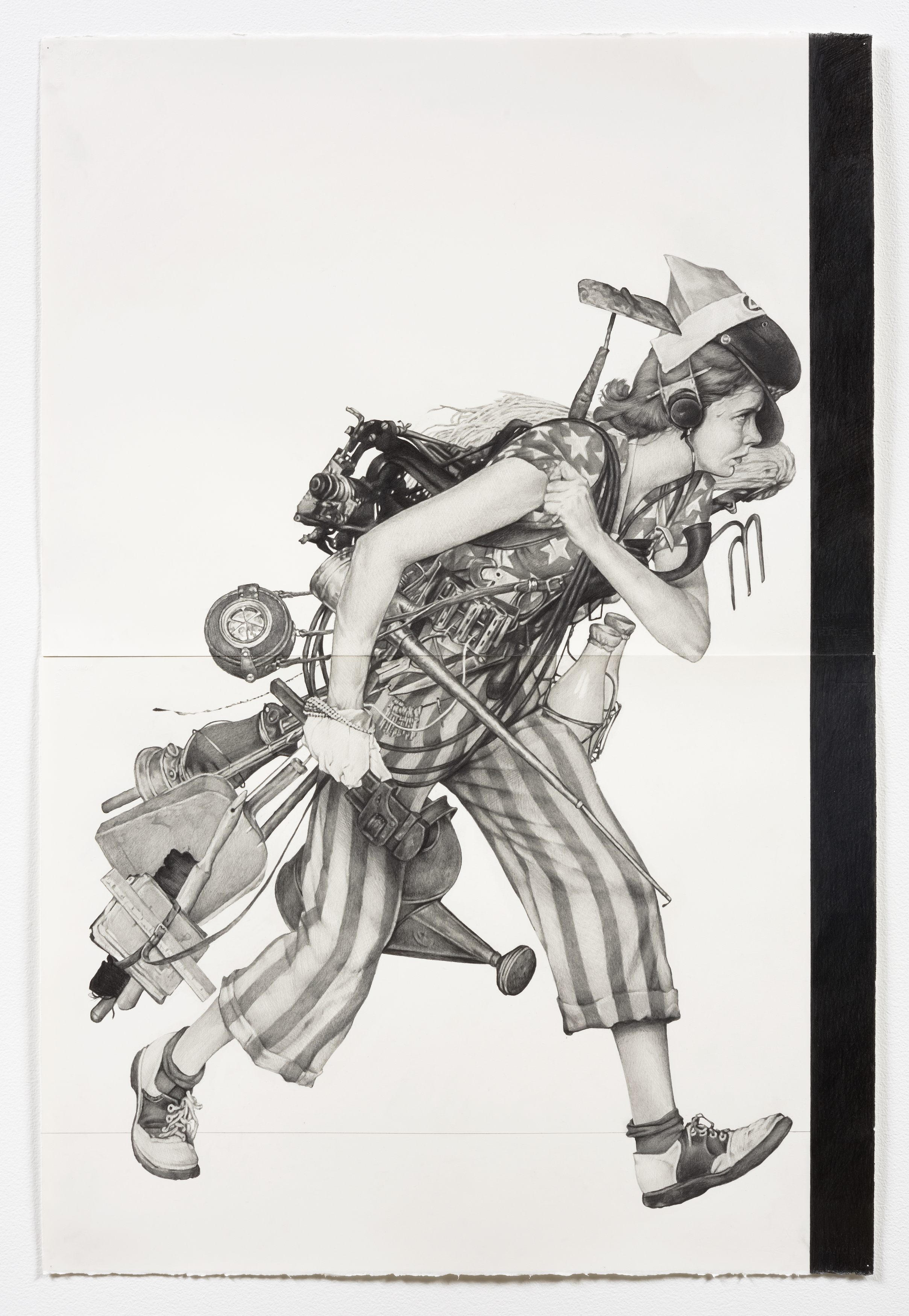 <i>Liberty Girl</i>,       2016<br />      pencil on paper,        113 x 76.2 cm<br />