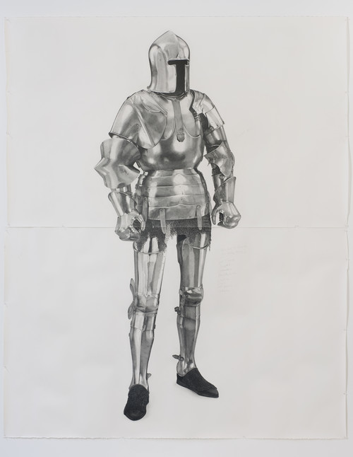 <i>Knight #7</i>,       2011<br />      pencil on paper,        261 x 200 cm<br />