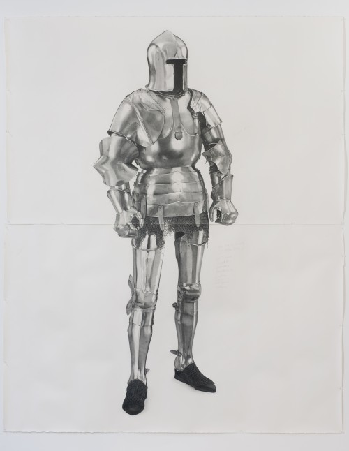 »Knight #7«, 2011<br />pencil on paper, 261 x 200 cm<br />