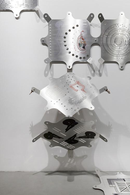 """<i>Modular Glyphic System</i>,       2013 / 2017<br />             <br />      Installation view """"Artificial Tears"""", Vienna Biennale , MAK Museum für Angewandte Kunst, Vienna, Austria, 2017 Photo: Aslan Kudrnofsky"""