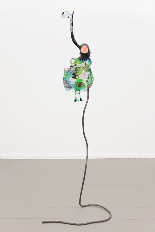»digestive system (map toxin)«, 2015<br />Polyurethane with fire stones, pigment, 65 x 23 x 8 cm<br />Photo: Paula Winkler