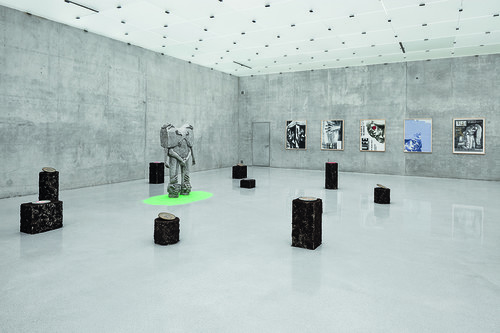 "<i>Statue for Gesticulation</i>,       2010<br />             <br />      Installation view ""Love is colder than capital"", Kunsthaus Bregenz, Bregenz, Austria, 2013"