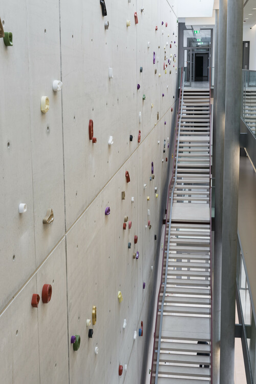 <i>Leaning Wall</i>,       2014<br />      Imprints of female and male body parts cast in colour-glazed Meissen porcelain,        varous sizes<br />      Permanent site specific installation at Robert Koch Institute, Berlin, Germany