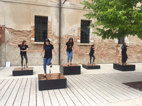 <i>Raise the Roof (Venice)</i>,       2017<br />      Performance, 57th International Exhibition of La Biennale di Venezia, Venice, Italy, 2017, 8:24 min,       <br />