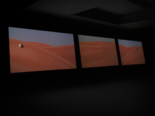 »Session«,       2013<br />      Installation view Sharjah Biennial 11, United Arab Emirates, 2013,       <br />