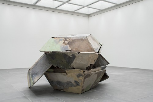 »Deutsche Kiste«, 1997<br />concrete, steel, 360 x 380 x 250 cm<br />
