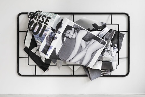 <i>Baise Moi</i>,       2019<br />      aluminium, digital print, stainless steel, steel, rubber,        190 x 300 x 59 cm<br />