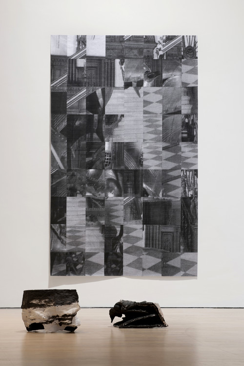 »re-construct«,       2013<br />      paper,        360 x 230 cm<br />      Installation view Kunstmuseum Stuttgart, Stuttgart, Germany, 2013