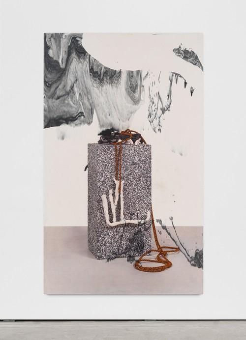 »quodlibet 6«, 2017<br />direct print on pigmented Jesmonite, 191 x 116 x 4 cm<br />