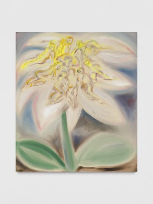 »Linnaeus Flower«, 2019<br />acrylic on canvas, 150 x 130 cm<br />