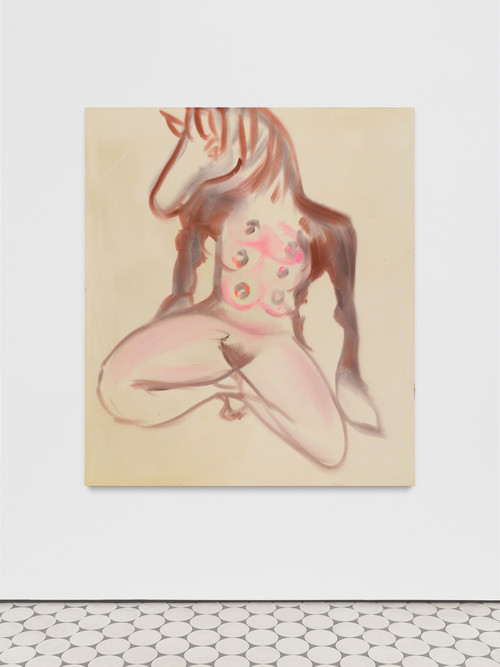 <i>Zentaurin</i>,       2019<br />      acrylic on canvas,        160 x 140 cm<br />