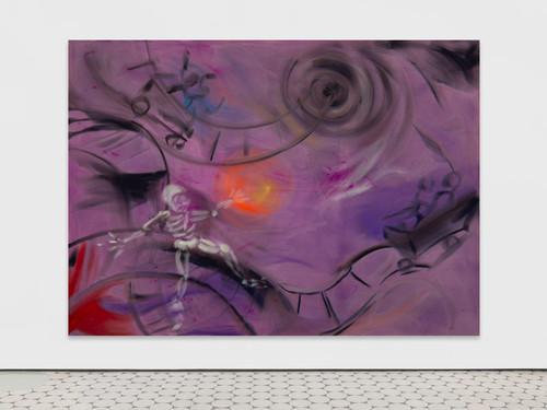 <i>Ghost Ride</i>,       2019<br />      acrylic on canvas,        230 x 320 cm<br />